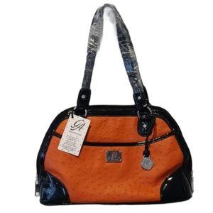 NWT Grace Adele purse satchel burnt orange color